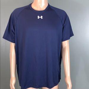 Under Armour Mens Navy Performance T-shirt SZ.XL